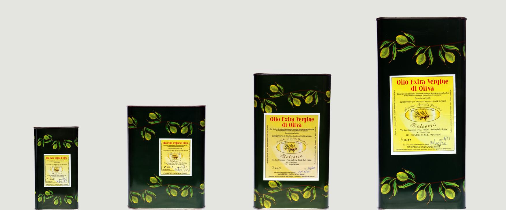Olio extra Vergine di Olive in lattina (1,2,3,5 litri)
